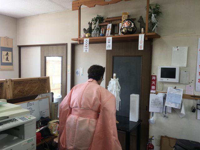 画像:当社改装開始 石のショールーム