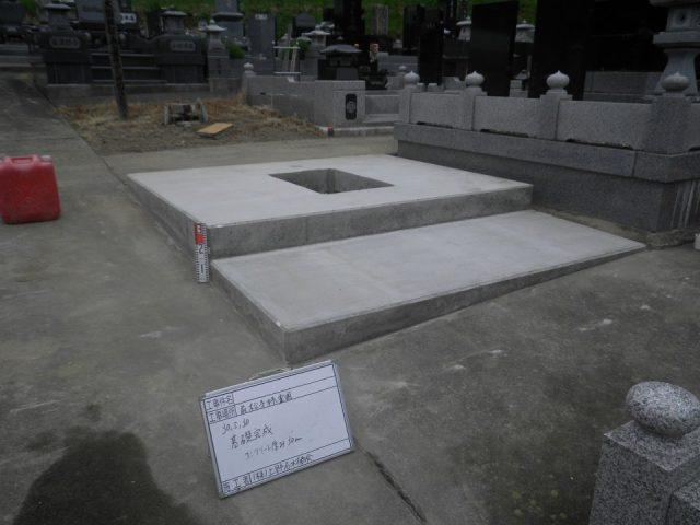 お寺様墓地お墓の新設工事